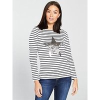 Joules Harbour Luxe, Stripe, Size 14, Women