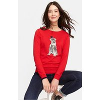 Joules Miranda Jumper - Red, Red, Size 8, Women
