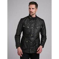 Barbour International Duke Wax Jacket - Black, Black, Size S, Men