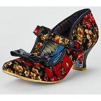 Irregular Choice Irregular Choice Lazy River Mid Heel Shoe, Black Multi, Size 4, Women