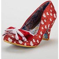 Irregular Choice Ban Joe Heeled Shoe - Red/White, Red/White, Size 4, Women