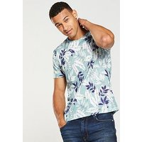 V by Very All Over Print Tee, Multi, Size Xs, Men
