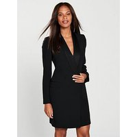Karen Millen Karen Millen Sleek Tux Double Breasted Dress