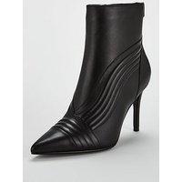 KAREN MILLEN Pointed Ankle Boot, Black, Size 4, Women