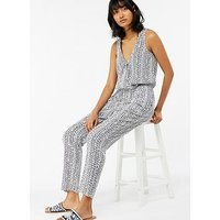 Monsoon Sofia Bagru Jumpsuit - White