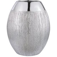 Product photograph showing Large Silver Glitter Vase