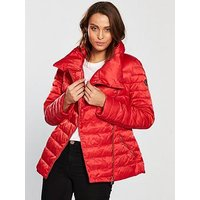Emporio Armani EA7 Ea7 Mountain Down Jacket, Red, Size Xs, Women
