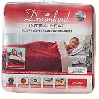 Product photograph showing Dreamland Velvet Sherpa Heated Throw