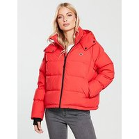Lacoste Lacoste Blouson Short Padded Hooded Jacket, Multi, Size Xl, Women