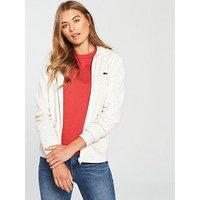 Lacoste Hooded Sweatshirt - White , Multi, Size 38, Women