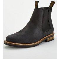 Barbour Farsley Chelsea Boot, Black, Size 6, Men