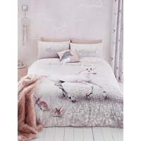 Product photograph showing Catherine Lansfield Enchanted Unicorn Duvet Cover Set