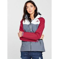 THE NORTH FACE Stratos Jacket - Grey/Red , Grey/Red, Size S, Women