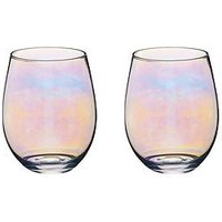 Product photograph showing Kitchencraft Iridescent 600 Ml Tumbler Glasses Ndash Set Of 2