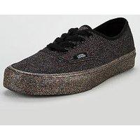 Vans Glitter Authentic - Black , Black/Black, Size 4, Women