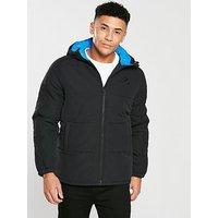 Converse Polyester Filled Jacket, Black, Size S, Men