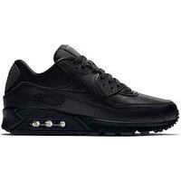Nike Air Max 90 - Black, Black/Black, Size 4, Women
