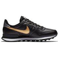 Nike Internationalist - Black/Gold , Black/Gold, Size 3, Women