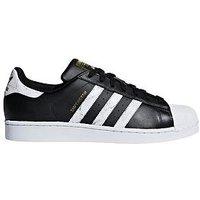 adidas Originals Superstar - Black/White, Black/White, Size 9, Women