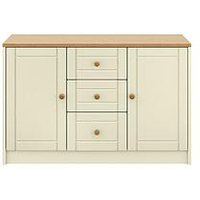 Product photograph showing Alderley Large Ready Assembled Sideboard - Cream Oak Effect