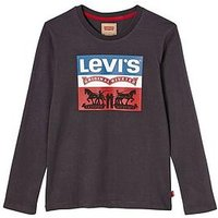 Levi's Boys Long Sleeve Classic Logo T-shirt, Dark Grey, Size 16 Years