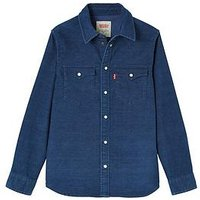 Levi's Boys Long Sleeve Cord Denim Shirt, Denim, Size 10 Years