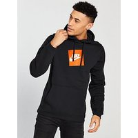 Nike Sportswear Overhead Fleece Hoodie, Black, Size L, Men