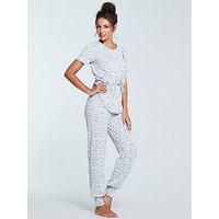 Michelle Keegan Jacquard Pyjama Bottom - Animal Print, Animal Print, Size 20-22, Women