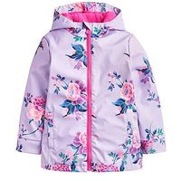 Joules Girls Raindance Waterproof Rubber Coat, Lilac, Size 7-8 Years, Women
