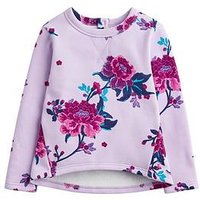Joules Toddler Girls Mart Floral Sweat, Lilac, Size Age: 3 Years, Women