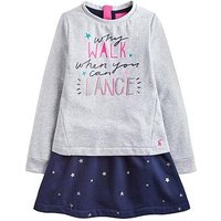 Joules Lucy Layered Sweater Dress, Navy, Size 7-8 Years, Women