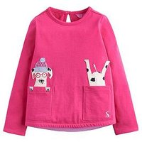 Joules Toddler Girls Ava Dog Applique T-shirt, Pink, Size Age: 5 Years, Women