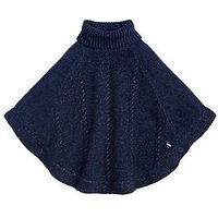 Joules Girls Amity Chenille Poncho - Navy, Navy, Size Age: S, Women