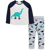 Joules Baby Boys Mack Dinosaur Novelty Outfit, Navy, Size 0-3 Months
