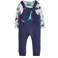 Joules Baby Boys Wilbur Pocket Dungaree Outfit, Navy, Size 0-3 Months