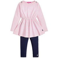 Joules Toddler Girls Iona Jersey Dress Outfit, Pink, Size 4 Years, Women