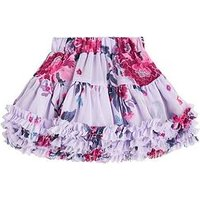 Joules Toddler Girls Lilian Floral Tutu Skirt, Lilac, Size Age: 6 Years, Women