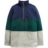 Joules Boys Dale Half Zip Sweatshirt, Multi, Size 1 Year
