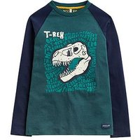 Joules Boys Reeve Glow In The Dark T-shirt, Dark Green, Size 7-8 Years