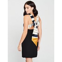 Mango Gugi Tie Back Dress - Blue, Black, Size Xs, Women