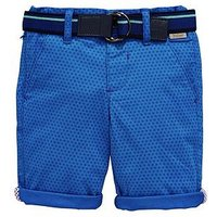Baker by Ted Baker Toddler Boys Printed Chino Short, Blue, Size 2-3 Years