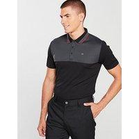 Calvin Klein Golf 39 Street Polo, Black/Grey, Size M, Men
