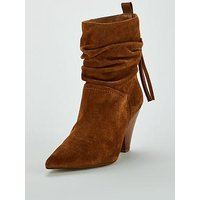 Carvela Sister-Tan-Suede Ankle Boot, Tan, Size 7, Women