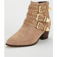 KG Tiger-Tan-Suede Ankle Bot, Taupe, Size 3, Women