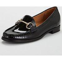 Carvela Click Patent Loafer - Black, Black Patent, Size 8, Women