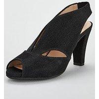 Carvela Arabella Suede Heeled Sandals - Black, Black, Size 7, Women