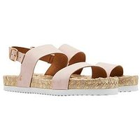 Joules Quayside Flat Sandal - Nude, Nude, Size 7, Women