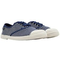 Joules Sunley Plimsoll - French Navy Stripe, French Navy, Size 4, Women