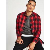 Jack Wills Salcombe Longsleeve Shirt, Navy/Red, Size Xl, Men