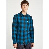 Jack Wills Salcombe Longsleeve Shirt, Navy/Blue, Size L, Men